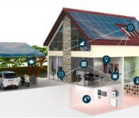 Zu sehen ist vernetztes Gebäude mit Energy and Home Automation.