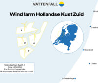 Lageplan des Windparks Hollandse Kust Zuid