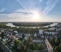 Blick auf Mannheim und den Rhein