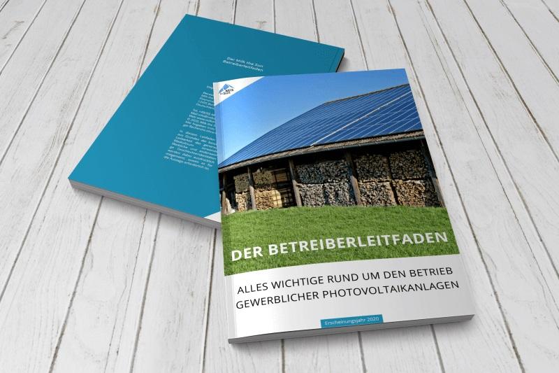 Zu sehen ist der Leitfaden für gewerbliche Photovoltaik-Anlagen.