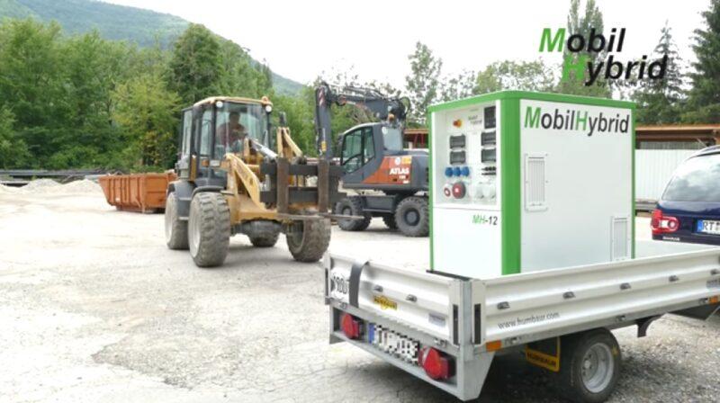 Zu sehen ist der MobilHybrid, ein mobiler Stromspeicher für Baustellen.