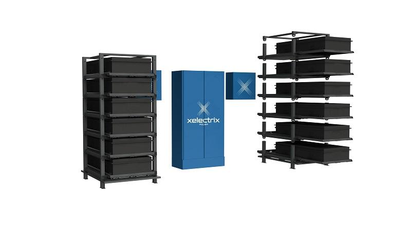 Zu sehen ist das modulare Hochvolt-Speichersystem Xelectrix Power Box Basic Split.