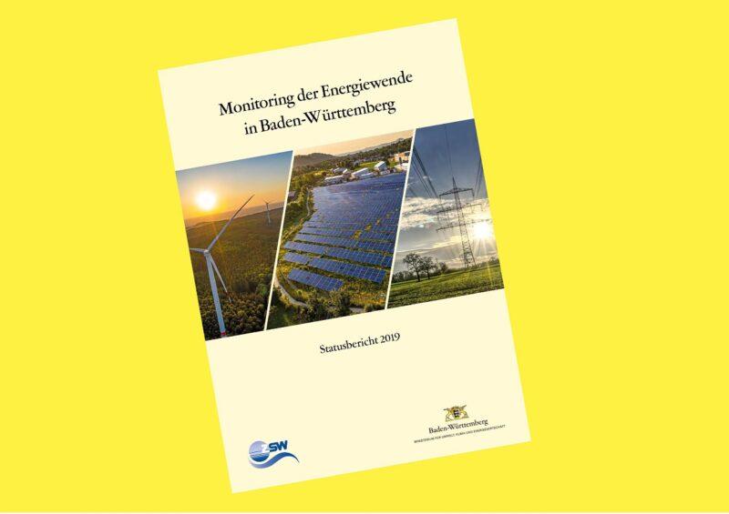 Zu sehen ist das Cover vom Monitoring-Bericht zur Energiewende in Baden-Württemberg.