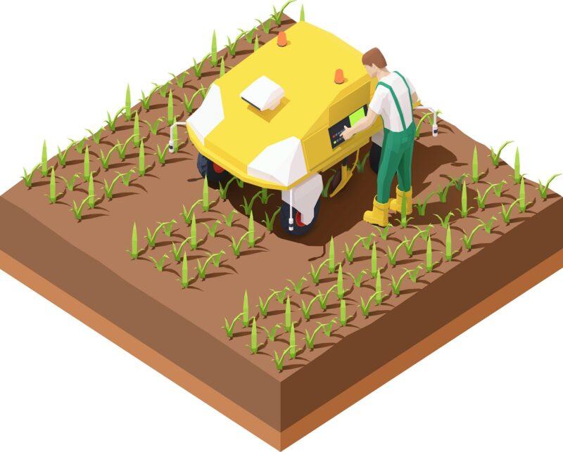 Zu sehen ist ein Agrarroboter, für den die Solarladestation für Agrarrobotik genutzt werden könnte.