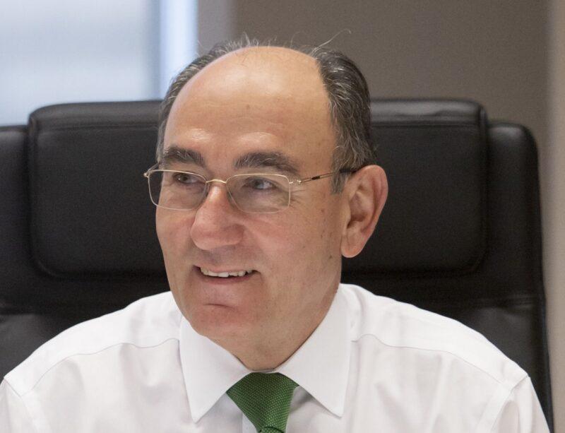 Zu sehen ist Ignacio Galán, CEO von Iberdrola, der mit dem Nettogewinn von Iberdrola zufrieden ist.