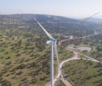 """Zu sehen ist eine Delta4000-Turbine, mit der der Windpark in Spanien """"Gecama"""" ausgestattet wird."""