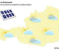 Zu sehen ist eine Österreich-Karte. Dem ganzen Land kommt der aufgestockte Photovoltaik-Fördertopf in Österreich zu Gute.