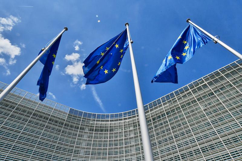 EU Europa Flaggen Berleymont Brüssel EU-Kommission