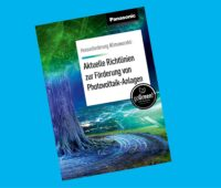 Zu sehen ist das Titelbild der Infobroschüre zur Photovoltaik-Förderung von Panasonic.