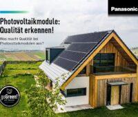 Titelblatt einer Broschüre mit Einfamilienhaus und Solaranlage
