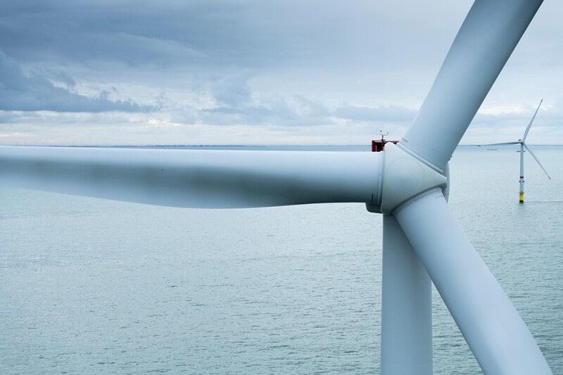 Zu sehen ist ein bestehender Vestas-Windpark. Das Unternehmen stattet auch den Offshore-Windpark Arcadis Ost 1 mit Windenergie-Anlagen aus.