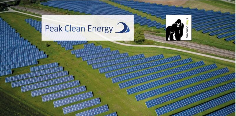 Zu sehen ist ein Solarpark des US-amerikanischen Projektentwicklers Peak Clean Energy.
