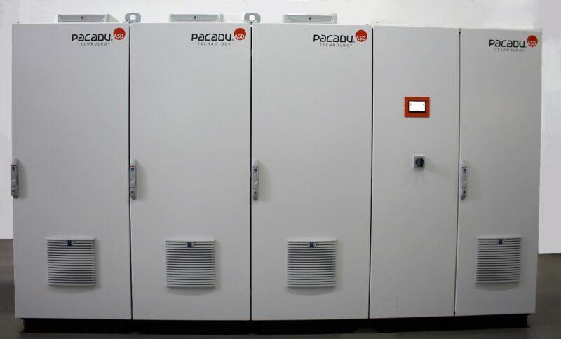 Zu sehen ist ein Pacadu-3 Stromspeicher, den ASD für Anwendungen im Gewerbe konzipiert hat.