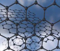 Zu sehen ist ein Graphen-Gitter, aus dem die neuartige Graphen-Rüstung für die Solarzellen besteht.