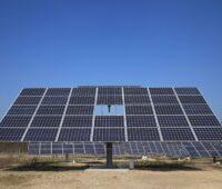 Zu sehen ist eine Photovoltaik-Anlage vom Projektierer Energiequelle.