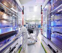 Blick in die Fertigung von Trina Solar. Das Unternehmen wurde zum sechsten Mal in Folge als Photovoltaik Top-Performer ausgezeichnet.