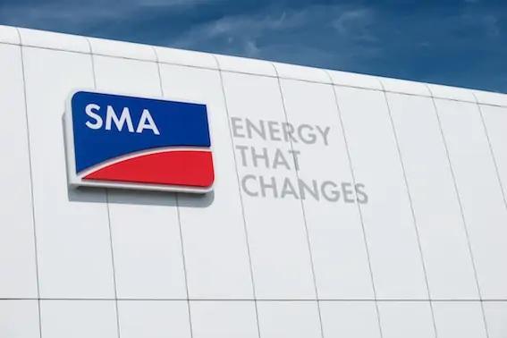 Zu sehen ist das Logo vom Wechselrichterspezialist SMA.