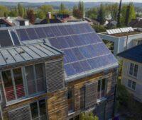Photovoltaik auf einem Privathaus.