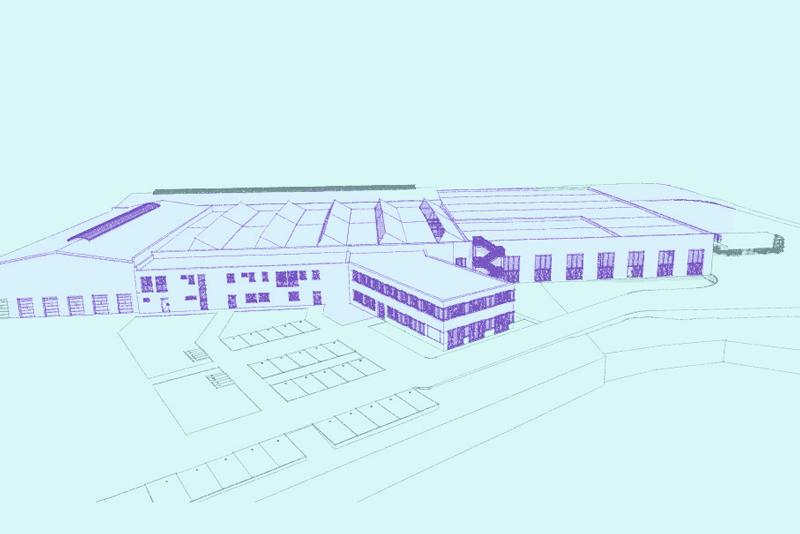 Architektenskizze neue Firmenzentrale Wagner Solar