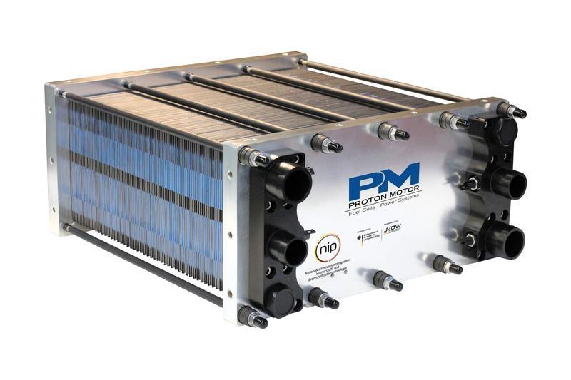 Zu sehen ist ein PEM-Brennstoffzellen Stack, für den das Recycling entwickelt wird.