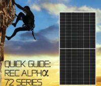 Zu sehen ist ein Imagebild mit Bergsteiger und dem neuen 72-Zellen Photovoltaik-Modul.