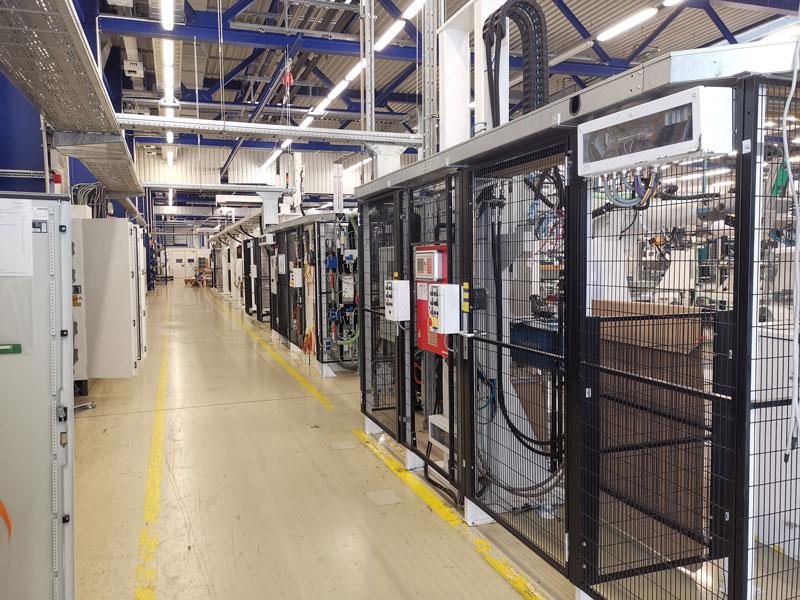 Blick in die Photovoltaikfabrik