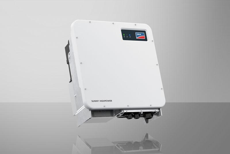 Weißer Photovoltaik-Wechselrichter Sunny Highpower PEAK3 von SMA