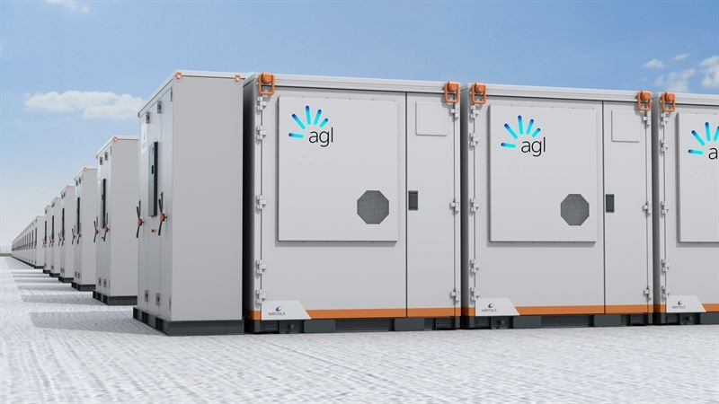 Zu sehen ist eine Animation des weltweit größten Projektes für ein netzbildendes Batterie-Energiespeichersystem in Australien.