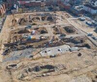 Zu sehen ist die Verlegung der Erdkollektoren auf dem Gelände des Bamberger Lagarde-Areals, dieses Projekt ist für den Stadtwerke-Award nominiert.