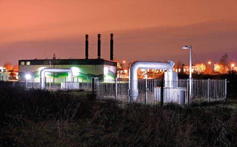 Zu sehen ist eine Geothermie-Anlage der SWM im Fernwärmenetz in München.