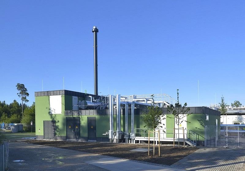 Zu sehen ist das Geothermie-Heizkraftwerk Kirchstockach, das die Münchner Stadtwerke (SMW) in das Münchner Fernwärmenetz einbinden wollen.