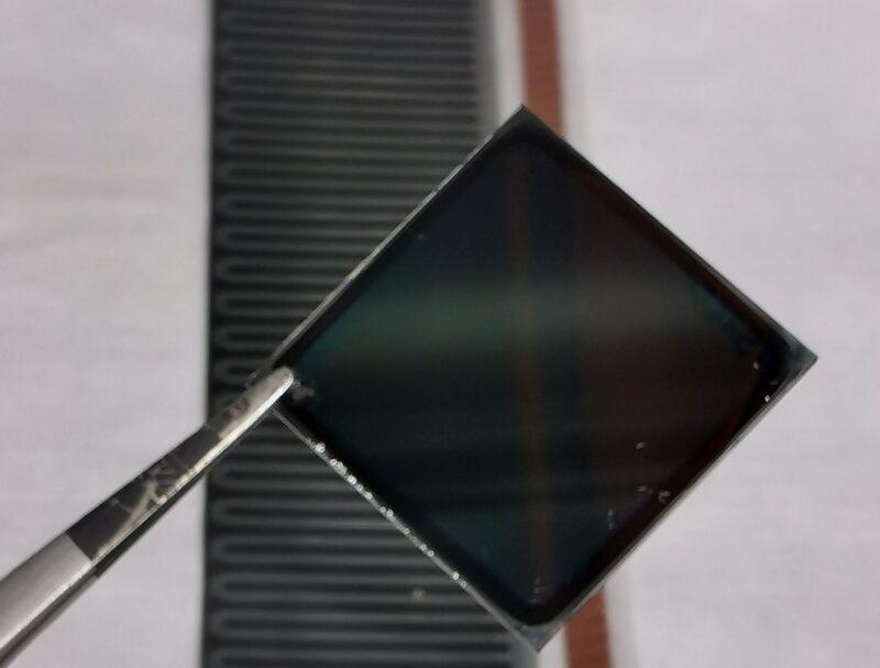 zu sehen ist die Rekord Dünnschicht-Solarzelle.