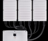 Zu sehen ist der neue Dreiphasen-Wechselrichter von Solar Edge.
