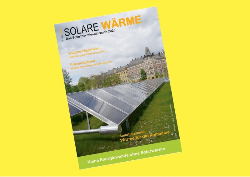 Zu sehen istr das Cover des Solarthermie-Jahrbuch 2020.