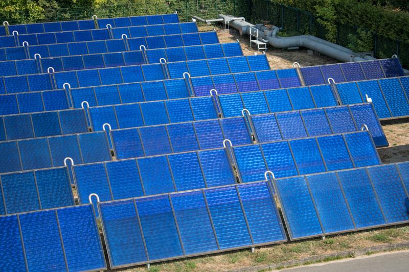 Solarthermieanlage für Fernwärme in Köpenick von Vattenfall