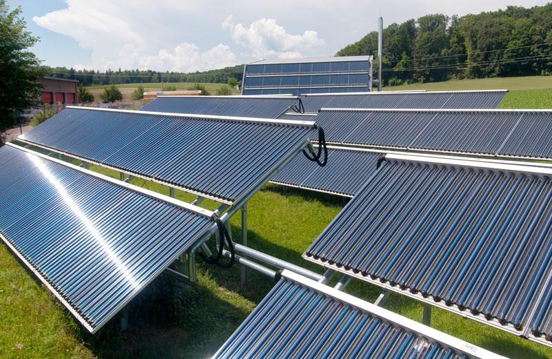 Solarthermieanlage des Energeidorfs Büsingen