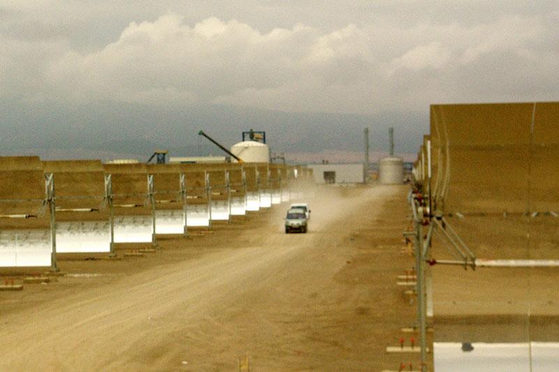 Foto eines thermischen Solarkraftwerkes in Spanien