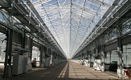 Zu sehen ist die solarthermische Klärschlammtrocknung der Emschergenossenschaft in Bottrop.