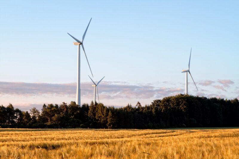 Zu sehen sind Windräder, denn der Energieversorger für das Post-EEG-Zeitalter will erneuerbare Energien vermarkten.