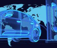 Zu sehen ist ein symbolisch dargestelltes Auto vor einer Weltkarte. Für den Batteriehersteller Farasis Energy ist Europa ein wichtiger Wachstumsmarkt.