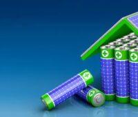 Zu sehen ist eine symbolische Darstellung für das Speichern von Solarstrom mit der High Performance Battery.