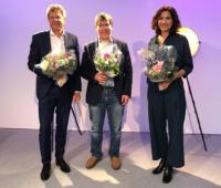 Gruppenbild Swissolar (von links): Jürg Grossen, Roger Nordmann, Gabriela Suter