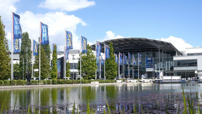 Zu sehen ist die The smarter E Europe, die im Juli stattfinden soll.