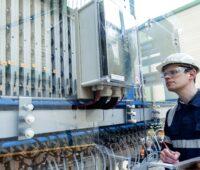 Zu sehen ist die Carbon2Chem-Pilotanlage, an der Thyssenkrupp und E.ON die Technologie getestet haben.