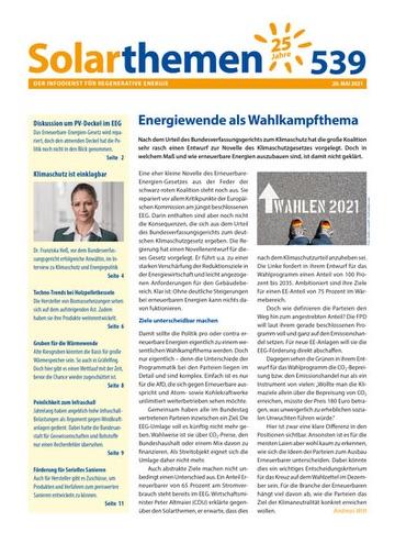 Solarthemen-Ausgabe 539 (Titelseite)