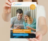 """Zu sehen ist das Deckblatt der Broschüre """"Klimaschutz – Komfort – Kostenersparnis. Kompakt informiert über die Bundesförderung für effiziente Gebäude (BEG)"""" vom VdZ."""