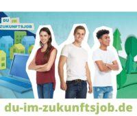 Zu sehen sind drei junge Leute im Rahmen eines Imagebildes für die Nachwuchsoffensive für das SHK-Handwerk vom VdZ.