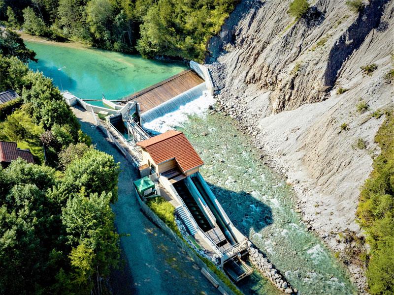 Wasserkraftwerk Hinterstein Luftbild