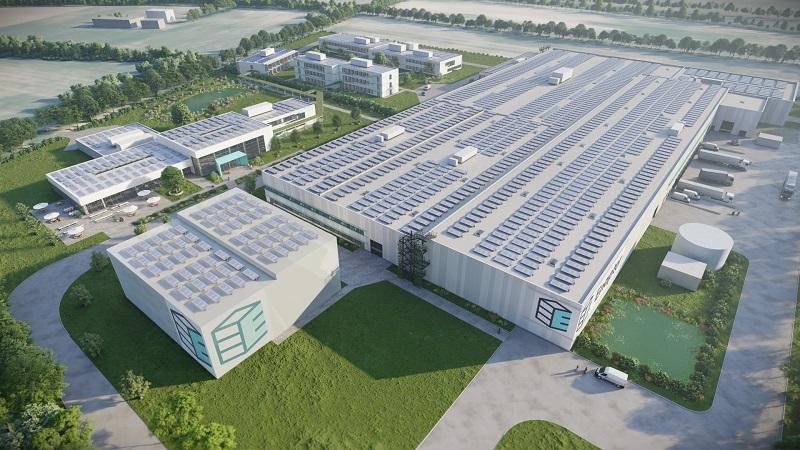 Zu sehen ist der Enapter Campus, auf dem der Elektrolyseur-Hersteller seine Massenfertigung für die Wasserstoff-Elektrolyse aufbauen will.