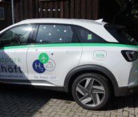 Ein Wasserstoffauto von der Seite